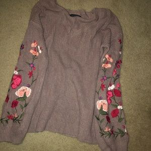 AE floral sweater